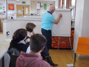 Young people learning about volunteering