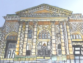 Painting of Bolton Market Hall